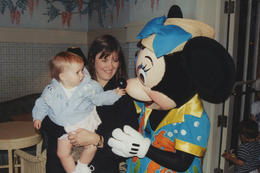 Meeting Minnie Mouse - September 2014