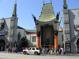 The center of Hollywood is Grauman's Chinese Theatre. Tours depart from it and tourists congregated around it --- hunting for the hand and footprints of their favorite stars. I was walking along ... , Patricia L - May 2011