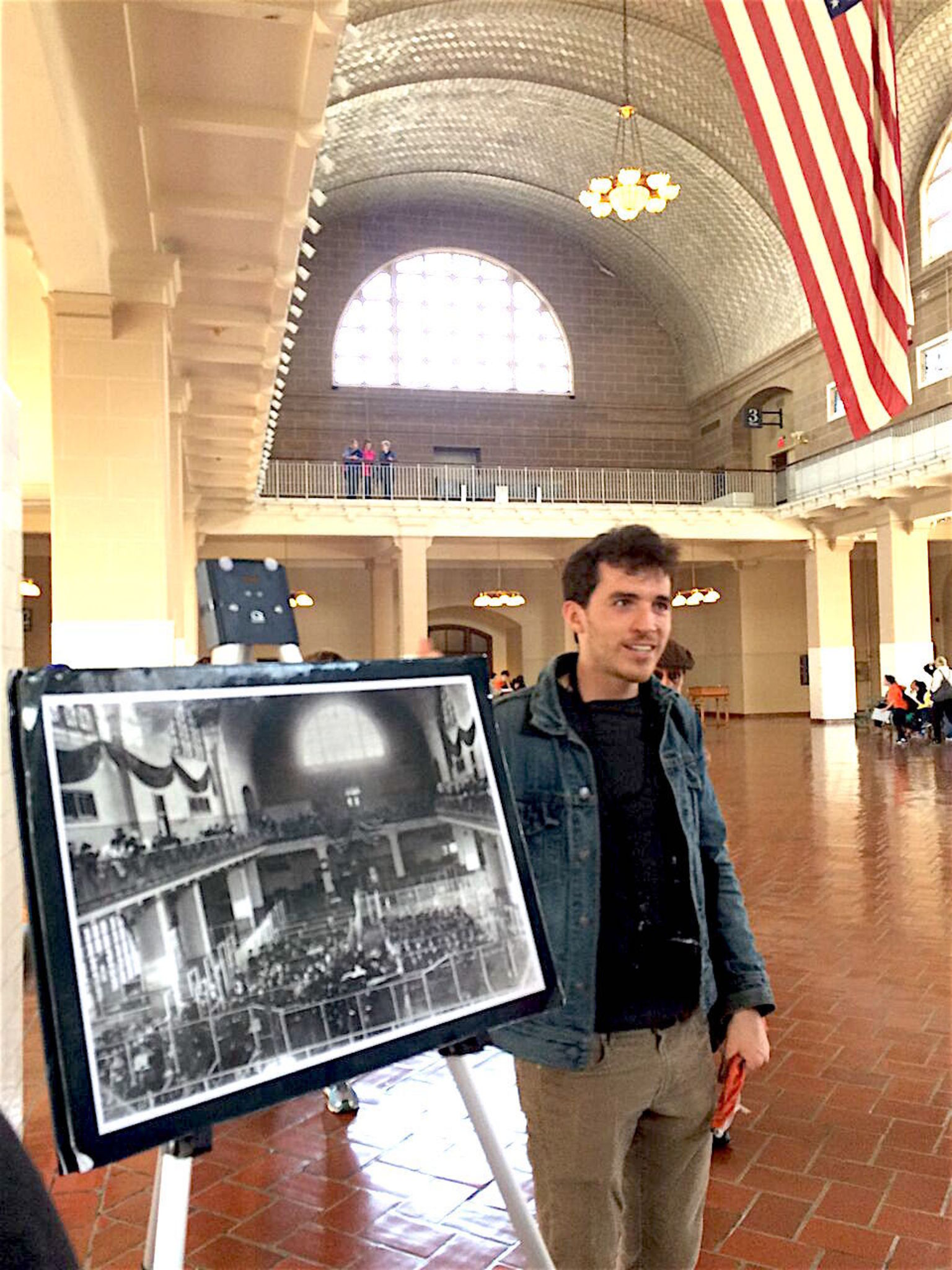 Ellis Island w Tommy the Tourguide