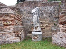 One of the statues in Ostia that was not recycled or removed to a museum., James E - June 2008