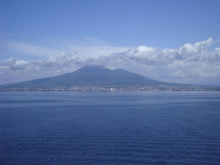 Mount Vesuvius in the Background - Rome