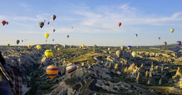 Photo of Istanbul 2-Day Cappadocia Tour with Optional Hot Air Balloon Ride Over 50 balloons filled the sky on this beautiful morning.