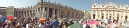 Photo of Rome Papal Audience Ticket at Vatican City Panoramic Shot