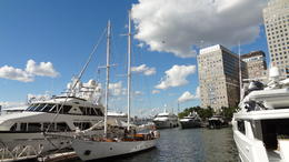 Photo of New York City Classic Schooner Sailing Tour in New York City: Wine-Tasting, Craft Beer or Jazz Sail Shearwater in marina
