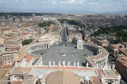 Photo of Rome Skip the Line: Vatican Museums, Sistine Chapel and St Peter's Basilica Half-Day Walking Tour St Peter's Square from the dome of the Basilica