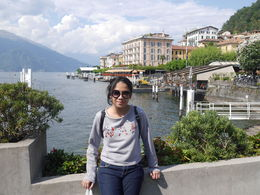 My daughter pose in Bellagio when we had trip to Lake Como , iman p - August 2015
