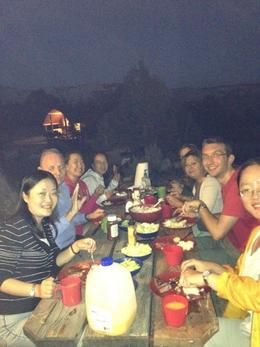 Group dinner at Bryce Canyon, Rachel - October 2012