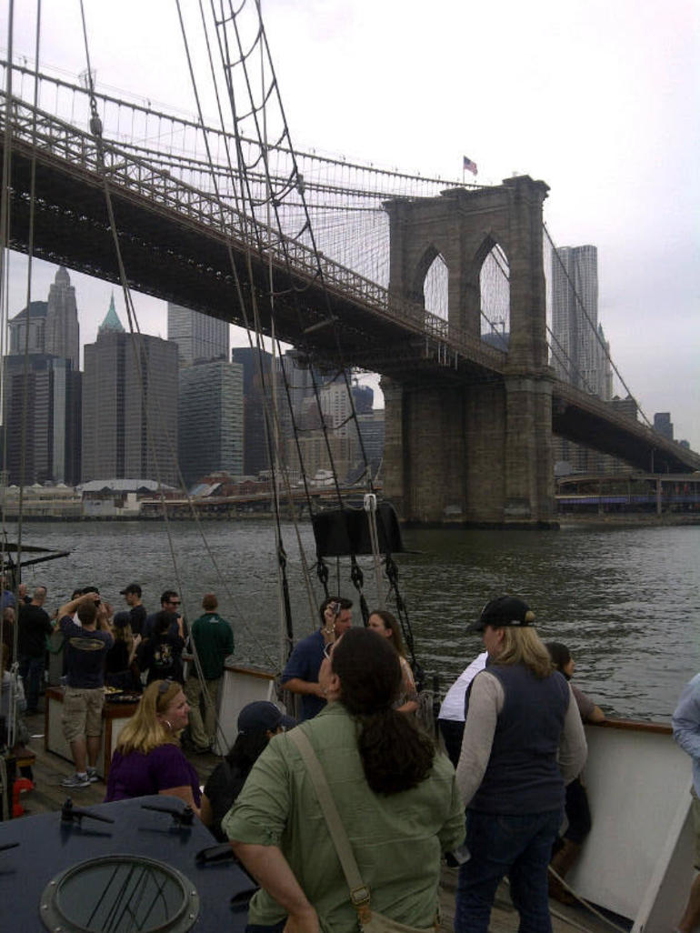 Approaching Brooklyn Bridge - New York City