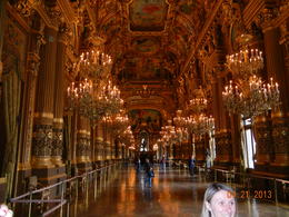 Walking into the entrance hall in the Garnier Opera House in Paris , Richard H - May 2013