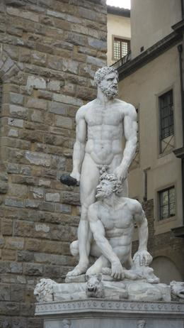 Hercules sculpture outside the Gallery Academico., ALI M - October 2010