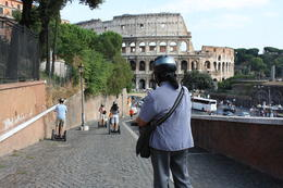 Photo of Rome Rome Segway Tour Going down the hill