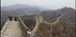 Great Wall winding through on the mountain ridge to Jinshanling - September 2012