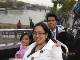 me, my daughter Audrey and husband Edgar, all ready to see the sights of Paris!, Mary Grace S - November 2009