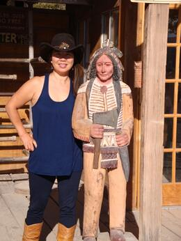 Photo of Las Vegas Old Spanish Trail Horseback Ride with Lunch KIM AND MR. INDIAN