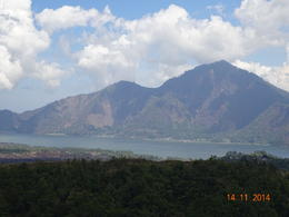 a view of Lake Batur , satish chandra - November 2014
