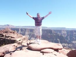 Photo of Las Vegas Ultimate Grand Canyon 4-in-1 Helicopter Tour Me on top of the world!