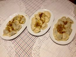 3 different kind of homemade savory pierogies , Jeri T - April 2016