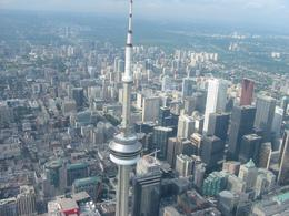 CN Tower from the Helicopter., Julie H - August 2008