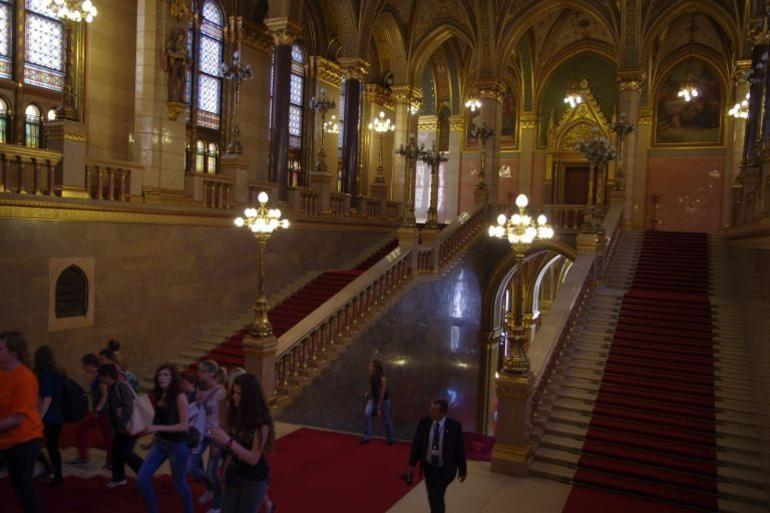 Awesome interior of Parliament building. - Budapest