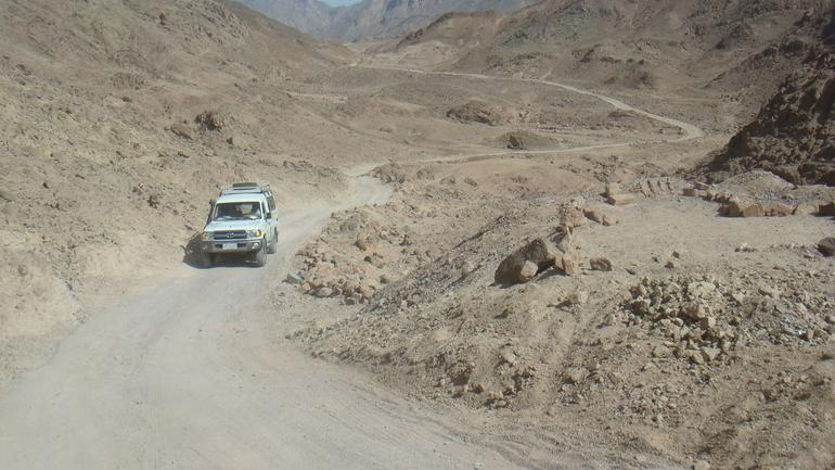 Driving out to the camp - Hurghada