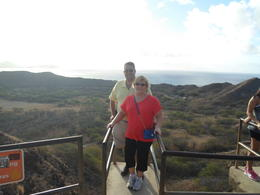 Photo of Oahu Diamond Head Crater Small Group Adventure High up the climb on Diamond Head Crater