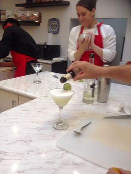 Ingrid and Collin making Pisco Sours. , Chefman - June 2015