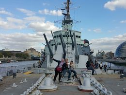 While on the deck on HMS Belfast , alin - September 2015