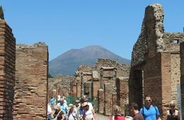 Photo of Naples Mt Vesuvius and Pompeii Day Trip from Naples Pompeii with a view of Mt. Vesuvius