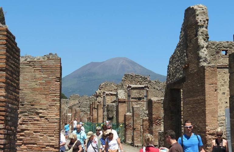 Pompeii with a view of Mt. Vesuvius - Naples