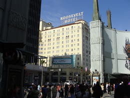 This photo of the Roosevelt Hotel was taken from Grauman's Chinese Theatre, which was the site of the first Oscars in 1929. Marilyn Monroe and Montgomery Clift are two of the personalities who ... , Patricia L - May 2011