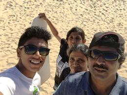 We all slide down a 50 to 60 feet from a sand top. The most thrilling experience of the trip. , Sarang S - November 2014