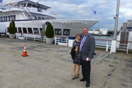 Steve and Erica Hardy about to board to celebrate their wedding anniversary , Steve H - October 2014