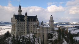 Photo of   View of Neuschwanstein from Marienbrücke