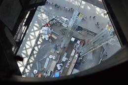 Not your usual view from the Eiffel Tower , Sandy B - August 2013