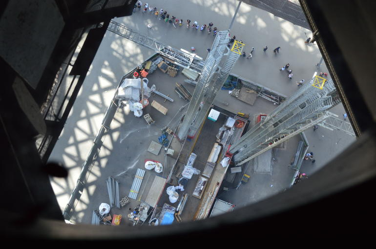 A different view from 2nd level of Eiffel Tower - Paris