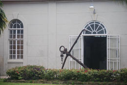 Anchor in front of Barbados Museum, Louise H - July 2011