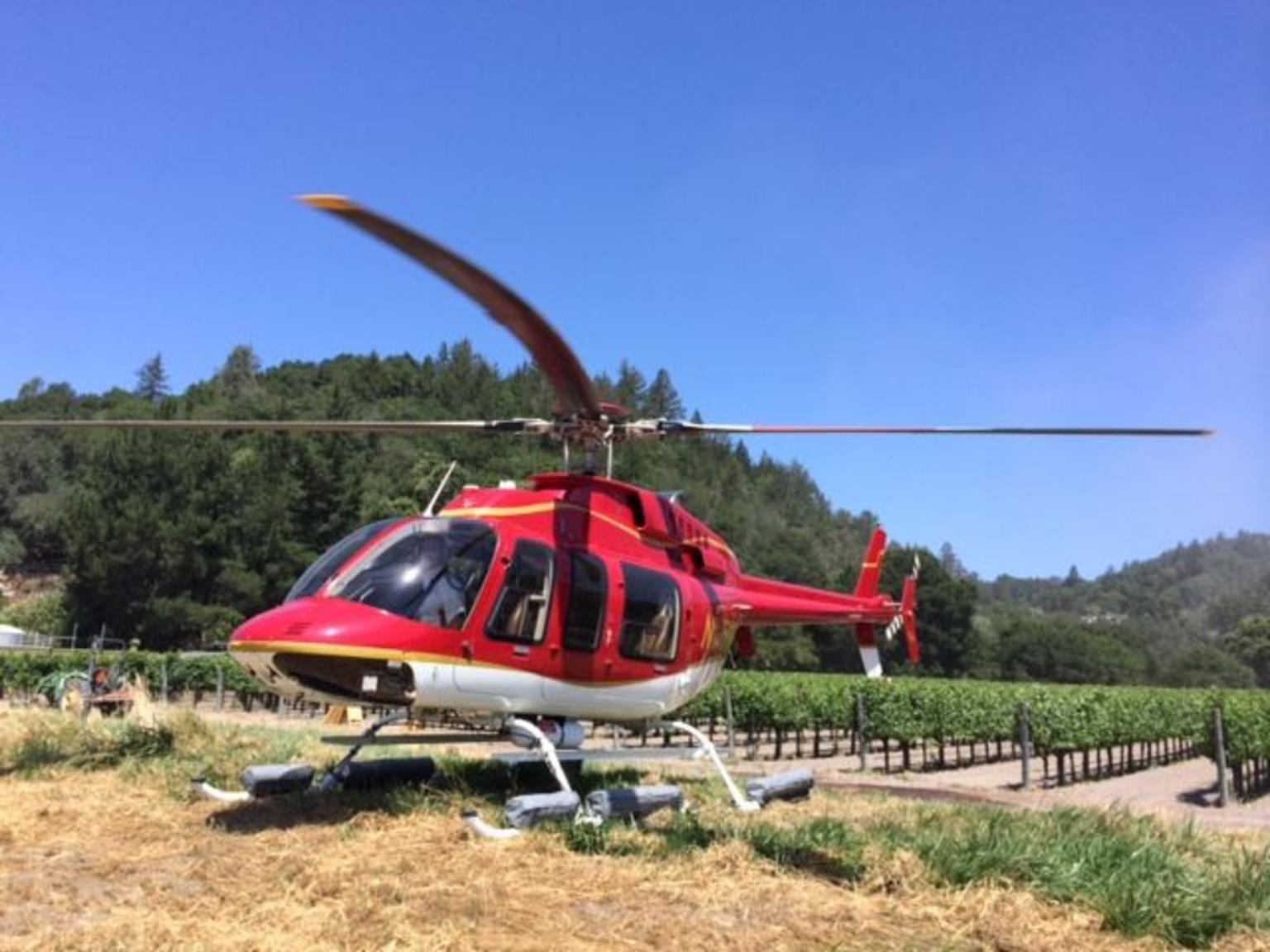 Wine Country by Helicopter with Wine Tasting and Food Pairing