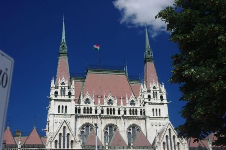 Beautiful architecture of Parliament building. - Budapest