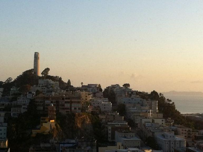 Coit Tower at Sunrise - San Francisco