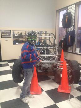 Checking out the shop before the ride., Dave C - May 2014