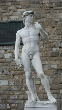 Smaller version of David sculpture outside the Gallery Academico., ALI M - October 2010