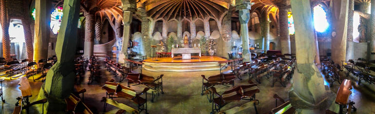 Gaudi crypt / church at Colonial Guell - Barcelona