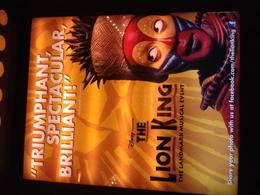 Affiche du musical and quot;le Roi Lion and quot; à Broadway. , Véronique M - February 2014