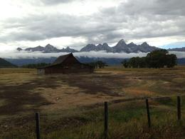 Photo of Jackson Hole Grand Teton Small-Group Wildlife Safari by Jeep Mormon Row Barn from the Meadows