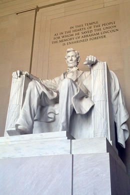 Lincoln Memorial, Jules & Brock - August 2012