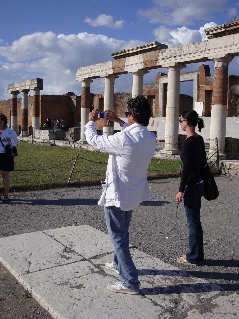 Our Tour Guide in Pompeii - Rome