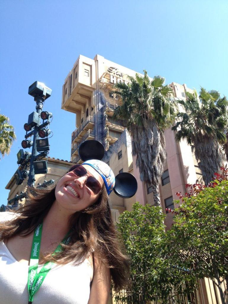 Safely back on the ground after Tower of Terror ride - Anaheim & Buena Park