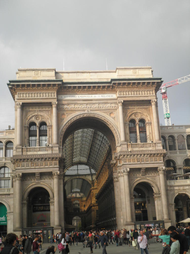 The entrance to the Galleria. - Milan