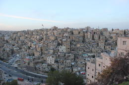 The view of Amman at sunset , Rababa - April 2013