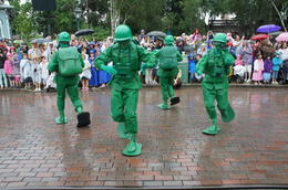 The Army Men having fun in the parade - September 2014